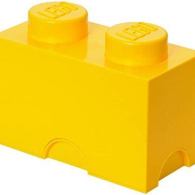 LEGO เลโก้ กล่องเก็บบริค สองปุ่ม สีเหลือง