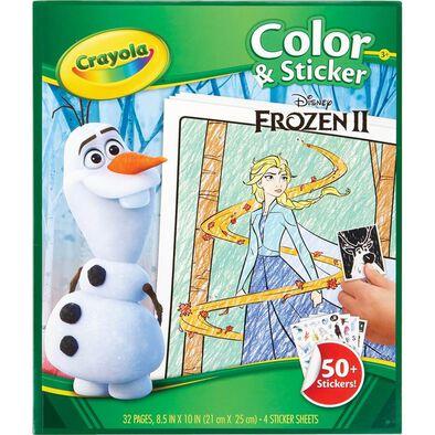 Crayola เครโยล่า กระดาษระบายสีพร้อมสติ๊กเกอร์ ลาย Frozen 2