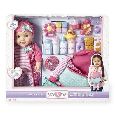 You & Me 16นิ้ว ชุดตุ๊กตาพร้อมเล่นและ กระเป๋าเป้พกพา