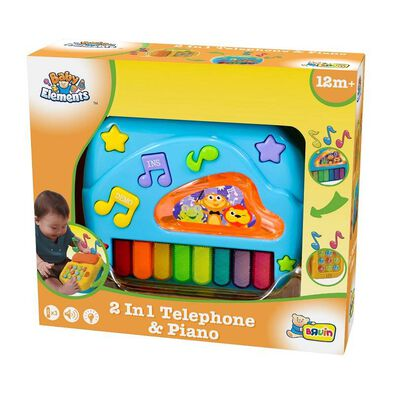 BRU Infant & Preschool 2 In 1 โทรศัพท์และเปียโน