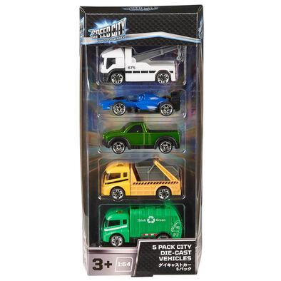 Speed City สปีด ซิตี้ 5 แพค รถของเล่นขนาดเล็ก