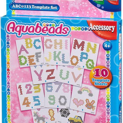 Aquabeads อควาบีดส์ ของเล่นลูกปัดสเปรย์น้ำ ชุดเอบีซี และ 1-2-3