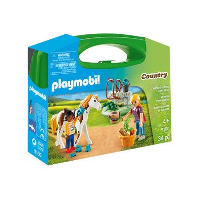 Playmobil เพลย์โมบิล ฮอร์ส กรูมมิ่ง ในกล่องกระเป๋าถือ