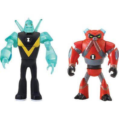 Ben 10 เบนเท็น หุ่นขนาดเล็ก มี 2 แบบใน 1 กล่อง รุ่น ไดมอนเฮด และ โอเว่อโฟลว ลิขสิทธิ์แท้จากการ์ตูนเบนเท็น
