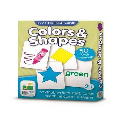 The Learning Journey เดอะ เลิร์นนิ่ง เจอร์นี่ย์ บัตรคำเสริมทักษะ เกี่ยวกับสีและรูปทรง