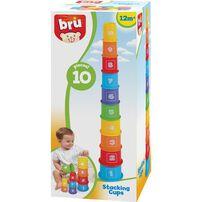 BRU ชุดของเล่นถ้วยเสริมทักษะนับเลขและการวางตั้ง