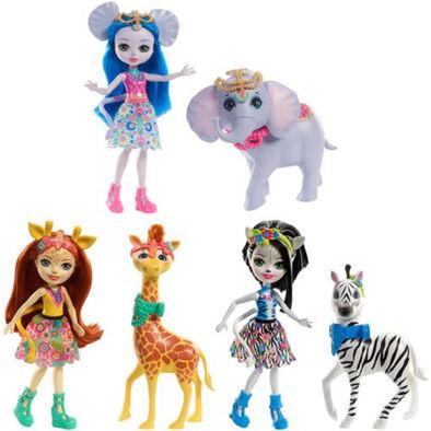 Enchantimals Doll/Large Animal Story - Assorted ตุ๊กตาเอนแชนติมอลและสัตว์คู่ใจ คละแบบ
