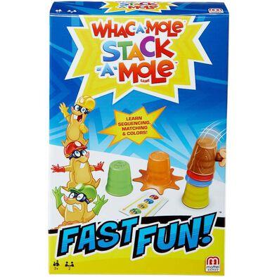 Mattel Games แมทเทล เกม Fast Fun Whac-A-Mole Stack-A-Mole ขนาดพกพา
