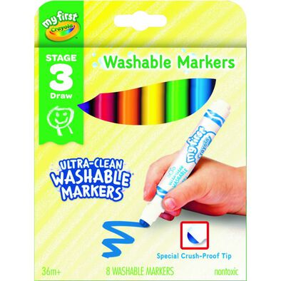Crayola เครโยล่า สีเมจิกล้างออกได้สำหรับเด็กเล็ก 8แท่ง