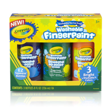 Crayola เครโยล่า สีน้ำระบายด้วยนิ้ว3สี ล้างออกได้ ไร้สารพิษ