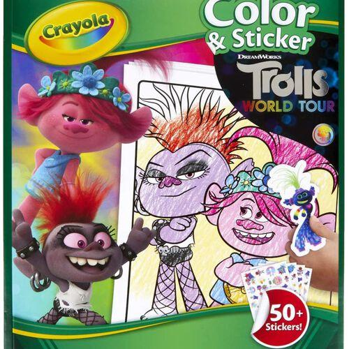 Crayola เครโยล่า สมุดระบายสีพร้อมสติ๊กเกอร์ โทรลล์