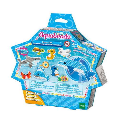 Aquabeads อควาบีดส์ ลูกปัดสเปรย์น้ำ เซ็ตรีฟิลชุดชีวิตในท้องมหาสมุทร