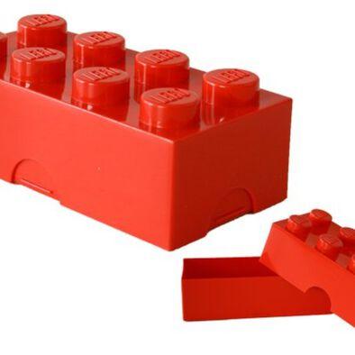 LEGO เลโก้ กล่องข้าวสี่เหลี่ยม 8 ปุ่ม สีแดง
