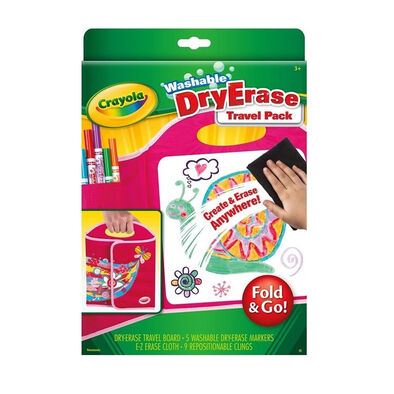 Crayola เครโยล่า ชุดปากกาเมจิกเขียนไวท์บอร์ดพร้อมกระดานพกพา