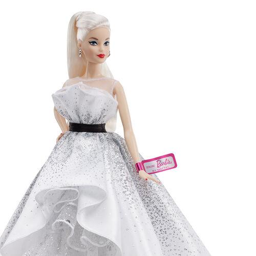 Barbie ตุ๊กตาบาร์บี้รุ่นสะสมฉลองครบรอบ 60 ปี ชุดสีขาว