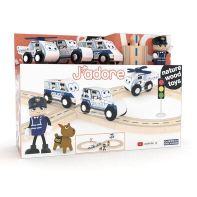 J'adore ฌาดอร์ ของเล่นไม้ชุดรถไฟตำรวจ