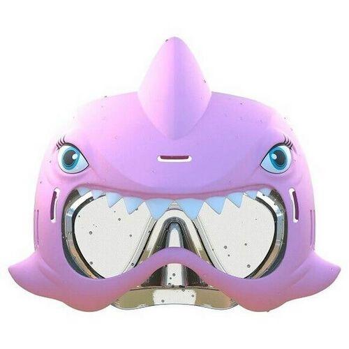 ชุดหน้ากากดำน้ำลายฉลาม และปืนฉีดน้ำลายฉลาม สีชมพู