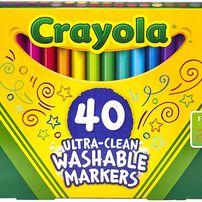 Crayola เครโยล่า สีเมจิกล้างออกได้ หัวเล็ก 40 แท่ง