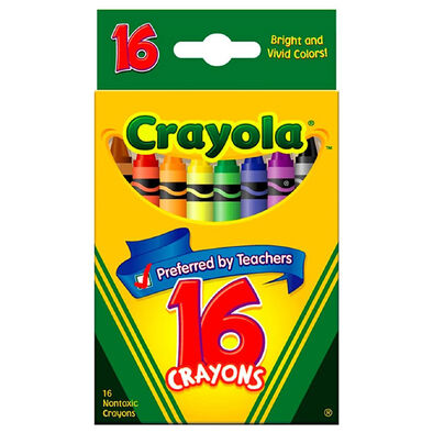 Crayola เครโยล่า สีเทียน 16 สี ไร้สารพิษ