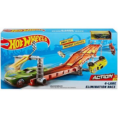 Hot Wheels ฮอตวีล 4 เลน อีลิมิเนชั่น ชุดเซทรางแข่ง