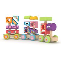 J'adore ฌาดอร์ ของเล่นไม้ ชุดรถไฟเสริมทักษะ