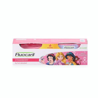 Fluocaril ฟลูโอคารีลคิดส์ ยาสีฟัน บิ๊กทีธ สตรอเบอรี่ 65กรัม +แปรงสีฟัน