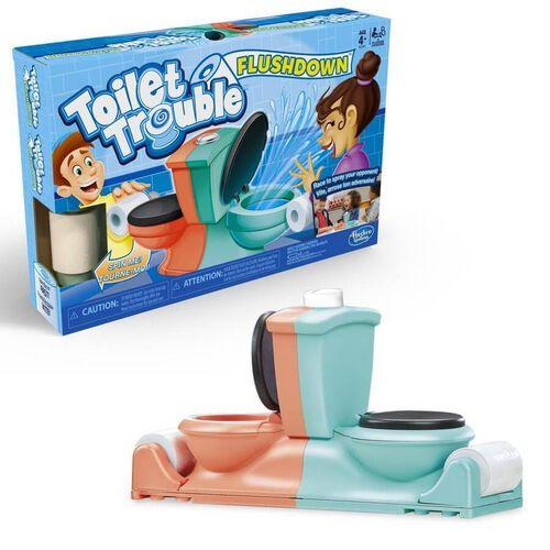 Hasbro Game ฮาสโบร เกม Toilet Trouble Flush Down
