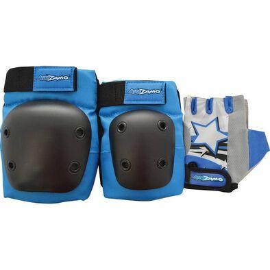 Kidzamo ชุดอุปกรณ์ป้องกัน สีน้ำเงิน Size M