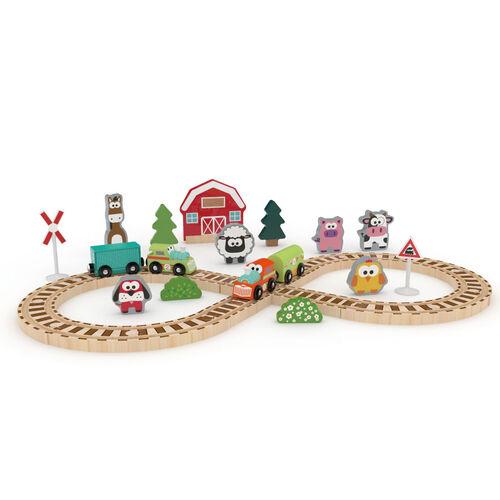 J'adore ฌาดอร์ ของเล่นไม้ชุดรถไฟในฟาร์ม