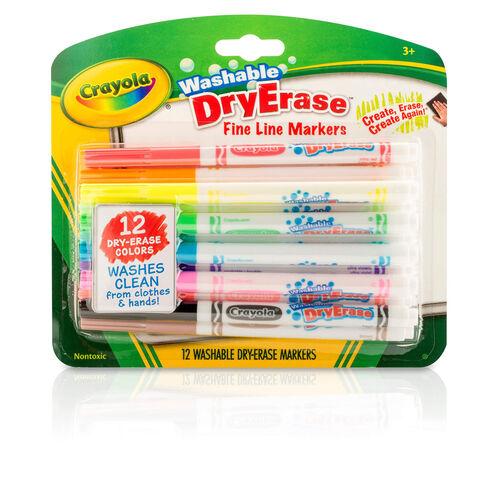 Crayola เครโยล่า ปากกาเมจิกเขียนไวท์บอร์ดล้างออกได้12สี