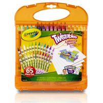 Crayola เครโยล่า ชุดสีไม้หมุนได้พร้อมกระดาษในกล่องพกพา