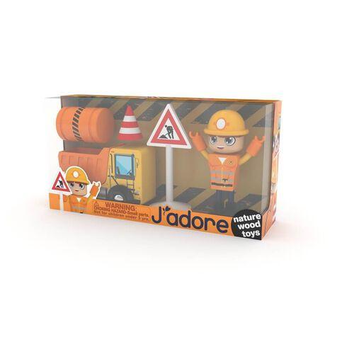J'adore ฌาดอร์ ของเล่นไม้ ชุดกิฟท์บ็อกซ์ธีมนักก่อสร้าง