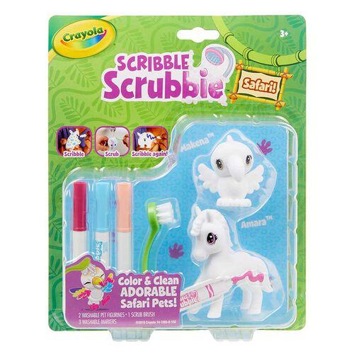 Crayola เครโยล่า สคริบเบิ้ล สครับบี้ ชุดระบายสีและอาบน้ำสัตว์ป่า ลูกไก่และม้าลาย