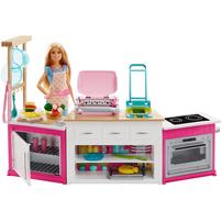 Barbie® ตุ๊กตา บาร์บี้ ชุดครัว ขนาดใหญ่ บาร์บี้ มีแสง มีเสียง