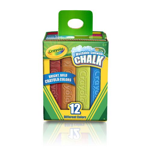 Crayola เครโยล่า สีชอล์กล้างออกได้ แท่งใหญ่ 12แท่ง
