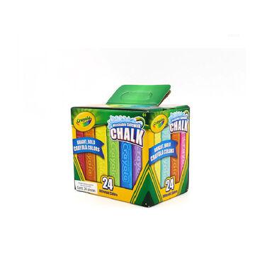 Crayola เครโยล่า สีชอล์กล้างออกได้ แท่งใหญ่ 24แท่ง