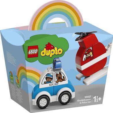 LEGO เลโก้ ไฟร์ เฮลิคอร์ปเตอร์ แอนด์ โปลิส คาร์ 10957